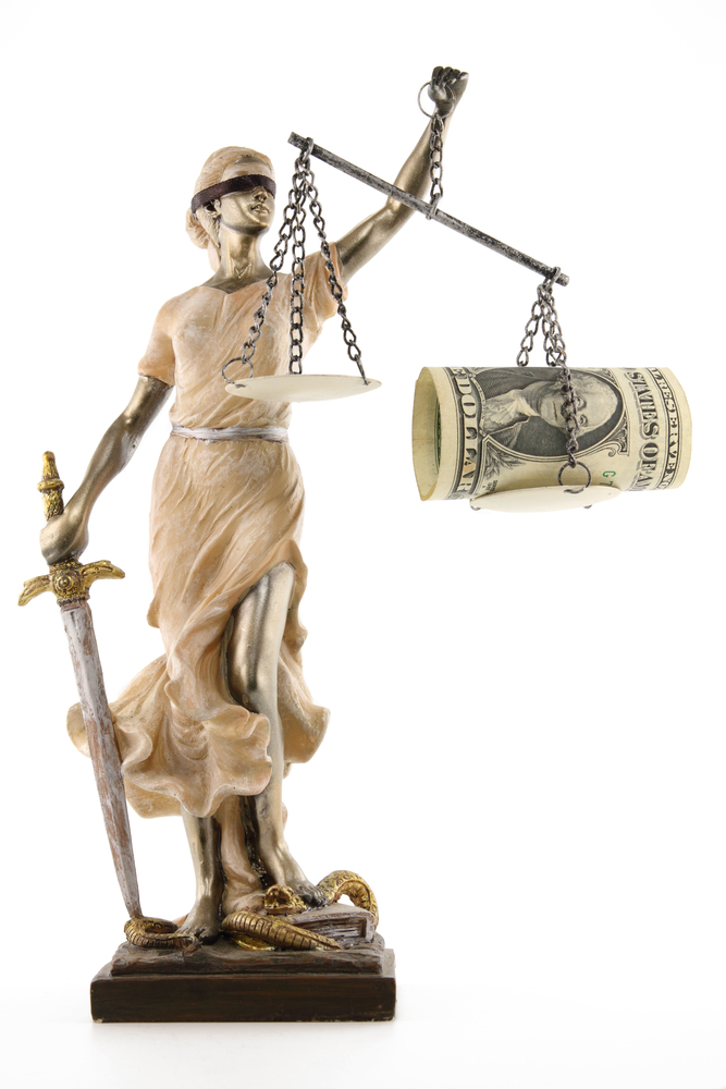 court explaining on buying justice using the money